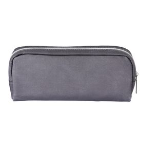 Laminated Canvas Tube Pencil Case Charcoal