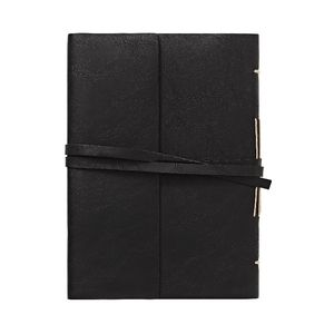 Vintage A5 Ruled Notebook 192 Page Black