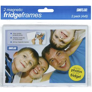 "Shot2Go Magnetic Fridge Frame 6 x 4"" Clear 2 Pack"