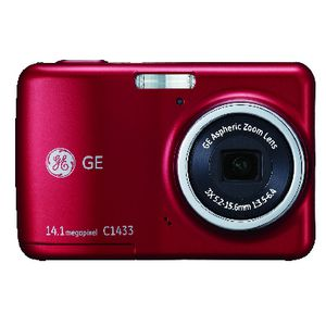 GE C1433 Digital Camera Red