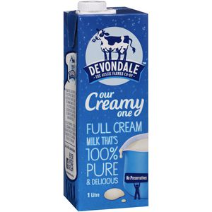 Devondale Full Cream UHT Milk 1L