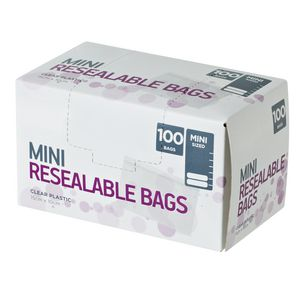 Order Resealable Bags Mini Pack/100