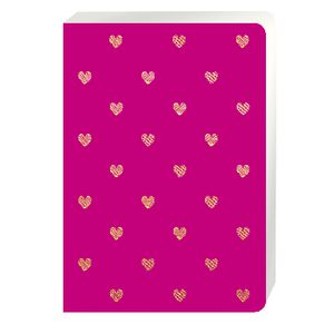 Go Stationery A5 Shimmer Notebook Large Gold Heart 192 Page