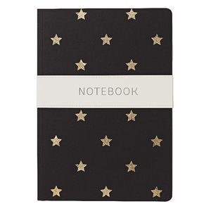 Go Stationery A5 Shimmer Notebook Small Gold Stars 192 Page