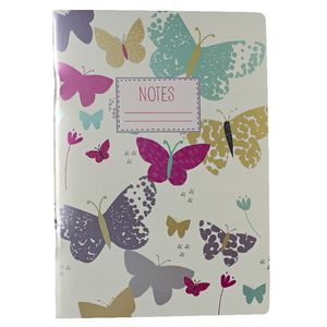 Go Stationery A5 Notebook Meadow Butterfly 198 Page