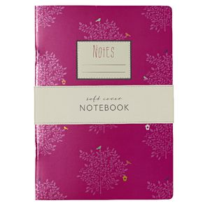 Go Stationery A5 Notebook Cerise Trees 198 Page