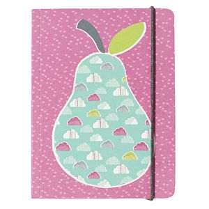 Go Stationery A6 Chunky Notebook Retro Pear 320 Page