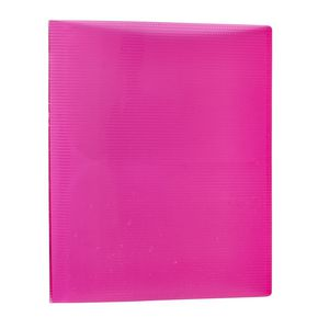 A6 Organiser Pink Transparent Lined