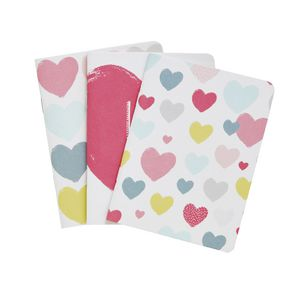 Go Stationery Pocket Notebooks Hearts 3 Pack