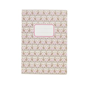 Go Stationery Exercise Book Taupe Owls 28 Page