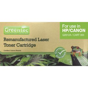 Greentec HP2612AREM Toner Cartridge Black