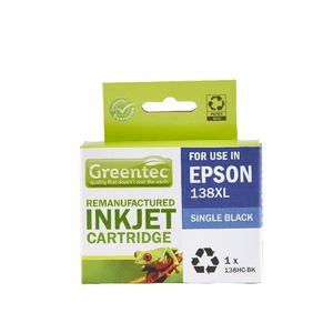 Greentec Epson 138XL Ink Cartridge Black