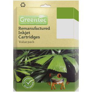 Greentec HP 56/57 Black and Tri-colour Ink Value Pack