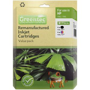 Greentec HP 74/75XL Ink Cartridge 2 Pack