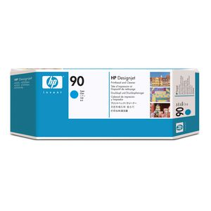 HP 90 C5055A Cyan Printhead and Cleaner