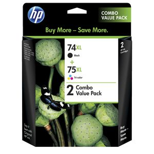 HP 74XL and 75XL Ink Cartridges Black and Colour 2 Pack