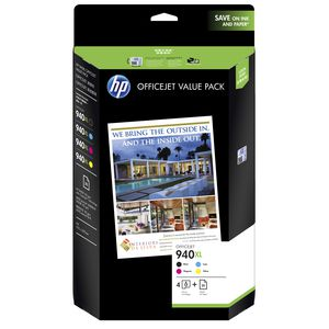HP 940XL Black and Colour Ink Cartridges Value Paper Pack