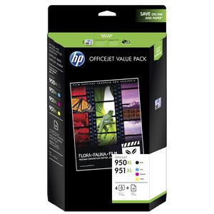 HP 950XL Black & 951XL Ink Cartridges Value Paper Pack