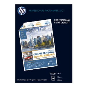 HP Professional Matt Laser Photo Paper, A4, 100 sheet