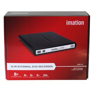 Imation Slim External DVD-RW 8X Recorder Black