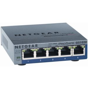 Netgear GS105E ProSafe Plus 5 Port Gigabit Switch