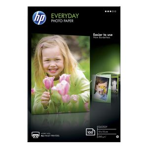 HP 200gsm 4 x 6 Everyday Glossy Photo Paper 100 Sheet Pack