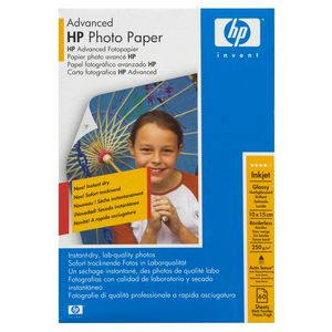 "Hewlett Packard (HP) Photo Paper Advanced Glossy 4x6"" Pk/60"