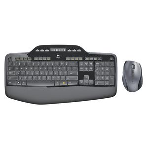 Logitech Wireless Desktop MK710 Keyboard and Mouse Black