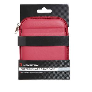 InSystem Portable Hard Drive Hard Case Red