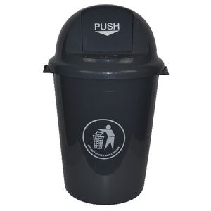 Italplast 80L Heavy Duty Swing Top Bin Dark Grey