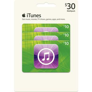 Apple iTunes Card - Multipack 3 x $10