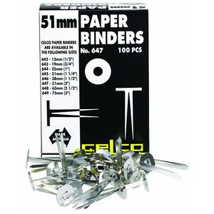Celco 51mm Paper Binders Bx/100