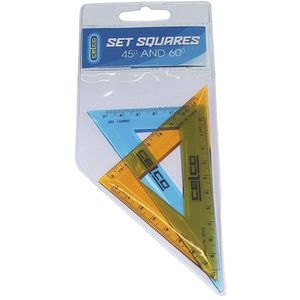 Celco 45 Degrees and 60 Degrees Set Square 2 Pack