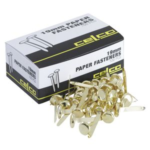Celco Paper Fasteners 19mm Pk/100
