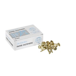 J.Burrows 19 mm Paper Fasteners 100 Pack