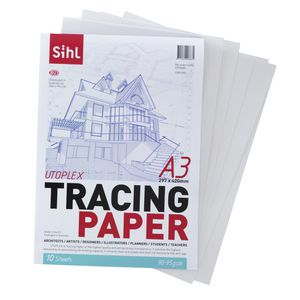 Sihl 90gsm A3 Tracing Paper Pad 10 Sheets