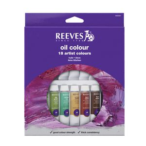 Reeves Oil Colour Paint Set 10mL 18 Pack
