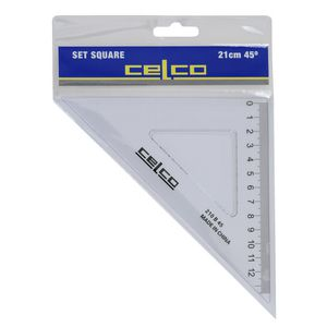 Celco 21cm 45 Degrees Set Square White
