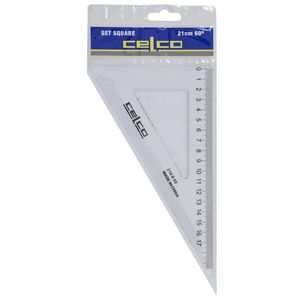 Celco 21cm 60 Degrees Set Square White