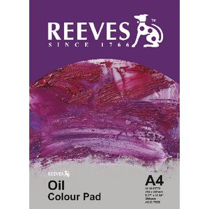 Reeves Oil Painting Pad A4 12 Sheet