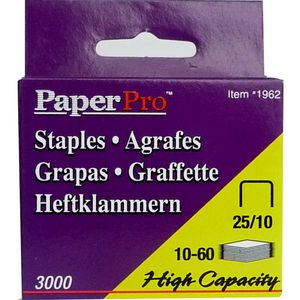 PaperPro 25/10 Staples 3000 Pack