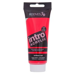 Reeves Acrylic Paint 100mL Brilliant Red