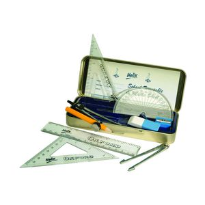Helix Oxford Blue 9 Piece Maths Set