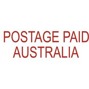 Deskmate Pre-Inked Office Stamps Postage Paid Australia Red