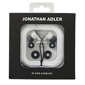 Jonathan Adler In Ear Earbud Headphones Black