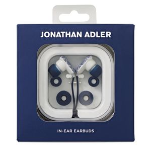 Jonathan Adler In Ear Earbud Headphones Blue