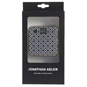 Jonathan Adler Portable Power Bank Dual Port 4500mAh Black