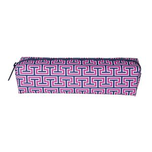 Jonathan Adler Tube Pencil Case Greek Tooth Pink