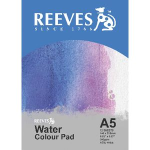 Reeves A5 Water Colour Pad 12 Sheets