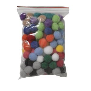 Jasart Pom Poms 13mm Assorted 100 Pack